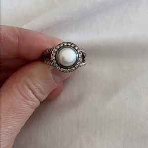 David Yurman Albion Pearl Ring with Diamonds